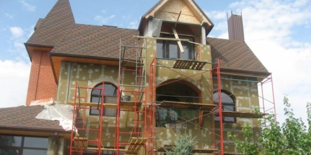 Финал строительства - фасадные работы
