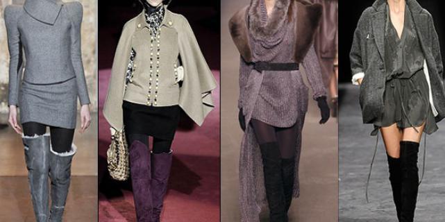 Замшевые сапоги – основные модные тенденции